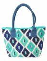 Striped Print Shopping Tote Bag