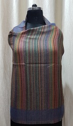 Fine Wool Reversible Stripes Stole