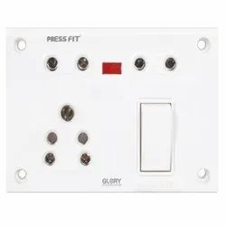 Press Fit Glory 6-in-1 Switch Socket Combined