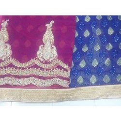 Fancy Viscose Half And Half Sarees