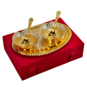 Occasional Silver & Gold Plated Bowl Set