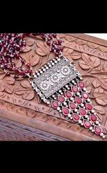 Silver Brass Designer Fashion Necklace