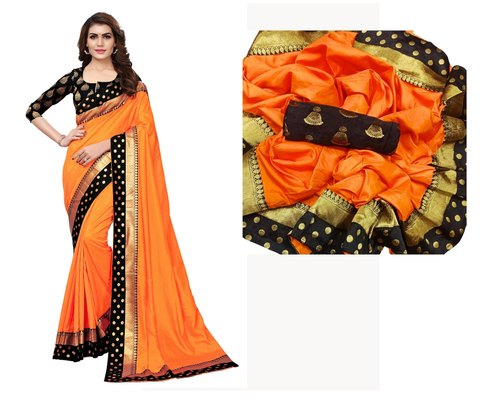 d79884c304 Sana Silk Plain With Border With Plain Silk Saree, Rs 499 /piece ...