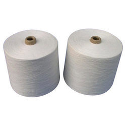 Raw White Polyester Cotton CVC Yarn, For Knitting/Weaving