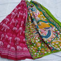 Cotton Hand Block Printed Sarees, Length: 6.3 M