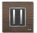 6 Module Black Wood Modular Switch Plate