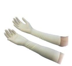 Elbow Length Gynaecology Latex Surgical Gloves
