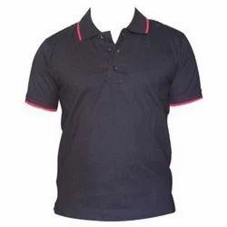 Black Raylaan Men's Polo T-Shirt