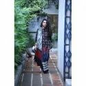 Block Prints Casual Wear Organic Dyed Cotton Printed Saree, 6 M (with Blouse Piece)