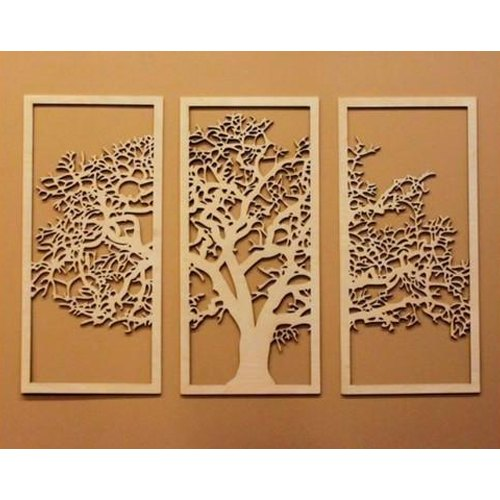 a9c93aed47b3 Brown Wooden Tree Of Life Wall Art Decor, Rs 150 /square feet, Shree ...