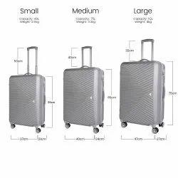 Hard Luggage Trolley Bag Set of 3 Minimum order quantity 500 Set