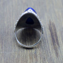 925 STERLING SILVER JEWELRY LAPIS LAZULI GEMSTONE FANCY RING WR-5187
