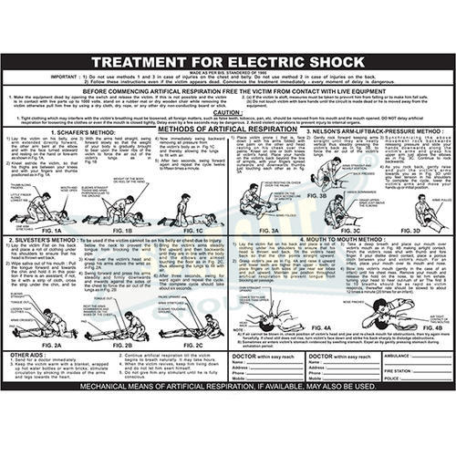 Buy electric shock treatment chart (50x75cm) book online at low.