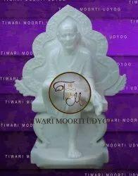 Marble  White Sai Baba Statue