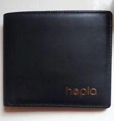 Hoopla Black Mens Card Holder Leather Wallets, Card Slots: 6