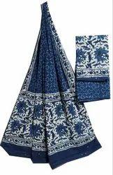 Unstitched Hand Block Cotton Dupatta Suit Fabric