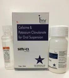 Cefixime 50mg and Potassium Clavulanate Acid 31.25mg