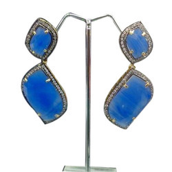 Blue AD Earring