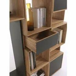 Open Wooden Office Cabinet