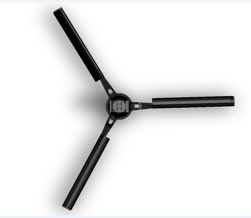 Black ceiling mounted 16 Feet 3 Blade HVLS Fan, Phase: 3 Phase