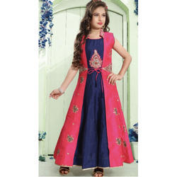 S And M Georgette Kids Party Wear Frock