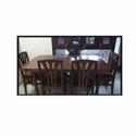 Dark Brown Teak Dining Table