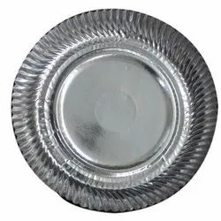UPP Silver Kagura Paper Plates, Paper Gsm: 80-120, Size: 6 - 14 Inch