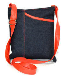 Blue Rubis Bag Denim Sling Bag, For Carry Bag