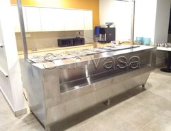 Silver Stainless Steel Bain Marie Counter