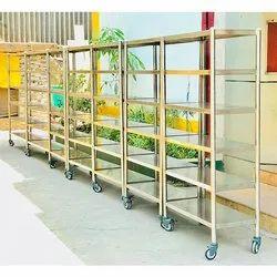 5-8 Feet Stainless Steel SS Industrial Storage Rack, 50-80 Kg