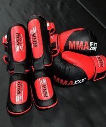 红色和黑色MPS运动MMA适合区拳击手套和护卫
