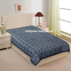 Hand Block Printed Cotton Bed Sheet