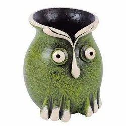Terracotta Dodo Flower Vase Pot
