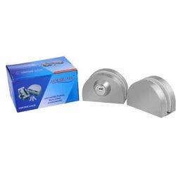 Adequate Aluminum Glass Door Lock, Stainless Steel