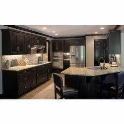 Wooden Designer Modular Kitchen, Kitchen Cabinets