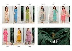 Designer Lawn Cotton Embroidery Salwar Suits
