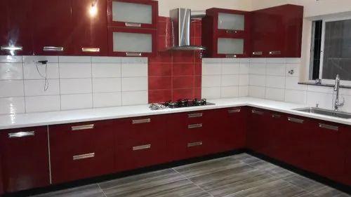 Modular Kitchen - Hi Gloss Laminated Kitchen Manufacturer ...