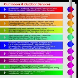 multi colour leaflet