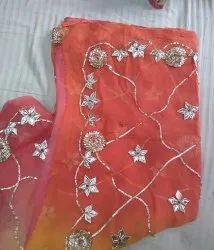 Saarvi Chiffon Saree, Length: 6.3 m (with blouse piece)