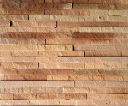 Yellow Sand Stone Cladding Tiles for Wall