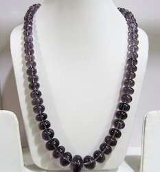 Amethyst Rondelle Smooth Plain Beads