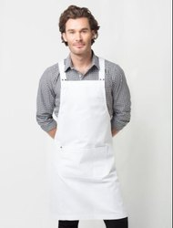 Plain Deluxe Canvas White Apron, For Restaurant, Size: 70 x 90 cm