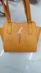 Ladies Yellow Leather Bag