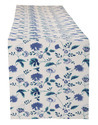 Hand Block Floral Print Cotton Canvas Dining Table Runner