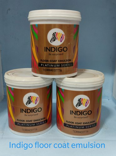 High Sheen Water Based Paint Indigo Paints Floor Coat Emulsion, Packaging Type: Can, Packaging Size: 1,4 And 10 Liter