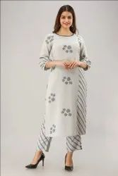 Modern Design Viscose Causal Ladies Kurtis with Plazzo Set