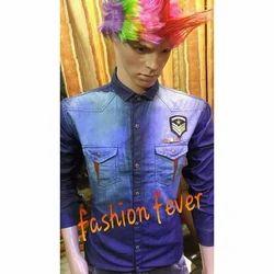 Fashion Fever Long Sleeve Stylish Denim Shirt