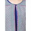 LKAAAF-26B Blue Ladies Kurti With Koti