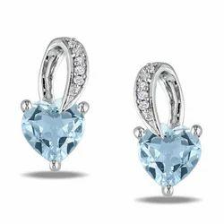 HQ Diamonds Real Diamonds Ladies Diamond Earring, 7.06 Gm