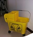 Down-Press Single Bucket Wringer Trolley